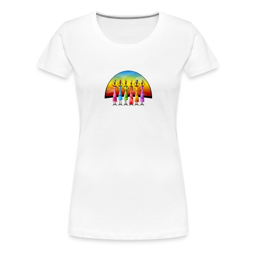 Frauen Afrika Farbig modern Gruppe - Frauen Premium T-Shirt