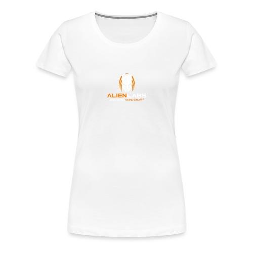 ALIEN LABS LOGO ora/wht - Frauen Premium T-Shirt