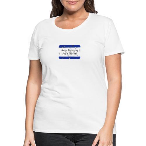mg agia galini - Frauen Premium T-Shirt