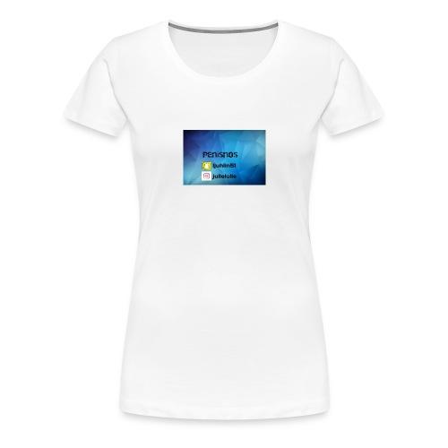 Penisnos merch med snap och ig - Premium-T-shirt dam