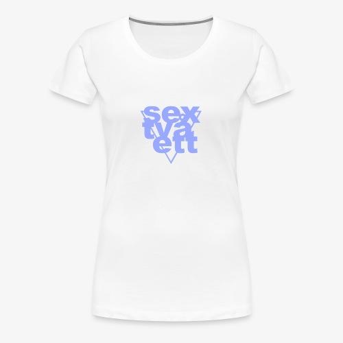 sextvåett By TheRawburt - Premium-T-shirt dam