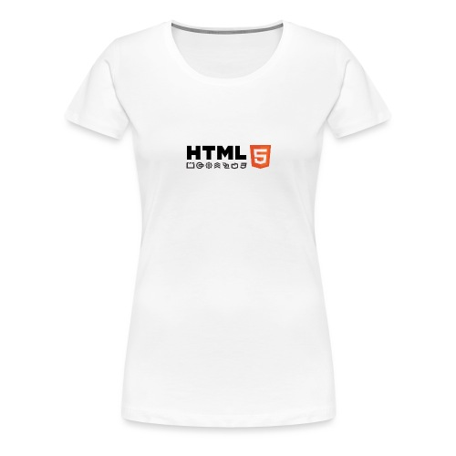 Html 5 - T-shirt Premium Femme
