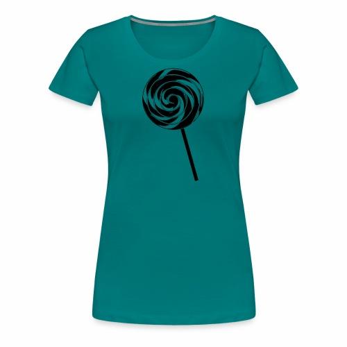 Retro Lutscher - Lollipop Design - Schwarz Weiß - Frauen Premium T-Shirt