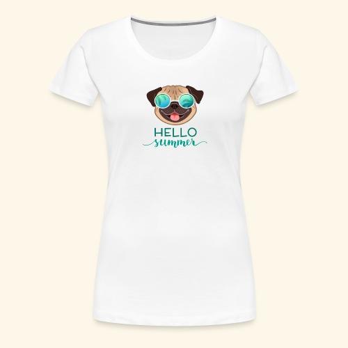Summer Pug - Women's Premium T-Shirt