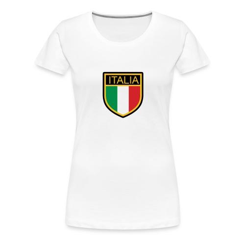 SCUDETTO ITALIA CALCIO - Maglietta Premium da donna