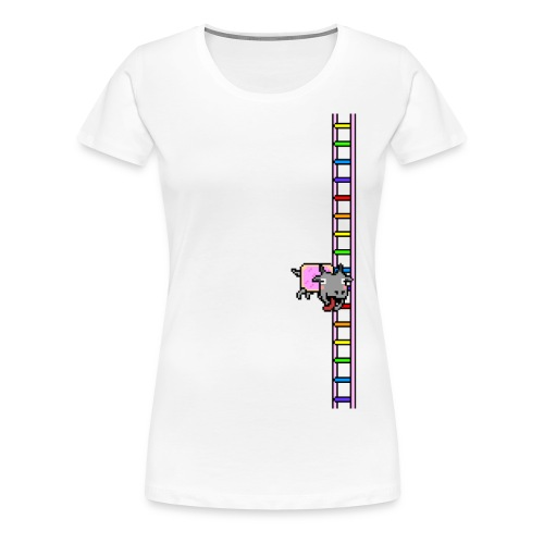 Flappy Goat In Space - Women's Premium T-Shirt