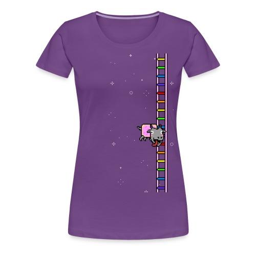 Flappy Goat In Space - Women's Premium T-Shirt