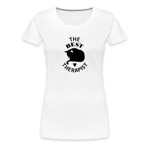 Cat The Best Therapist Shirt - Women's Premium T-Shirt