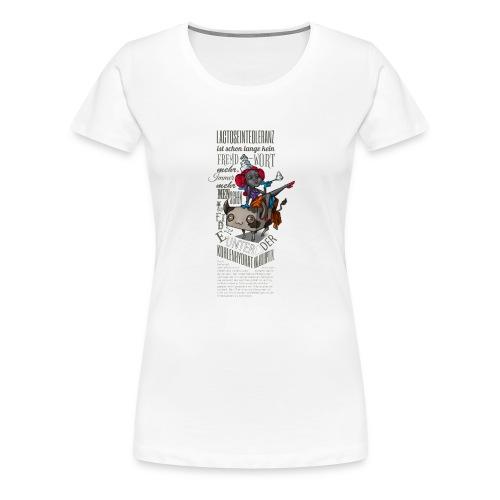 Lactosel und Ina Toleranza - Frauen Premium T-Shirt