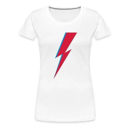 Blitz, Musik, Bowie, heroes, blackstar, rebel - Frauen Premium T-Shirt