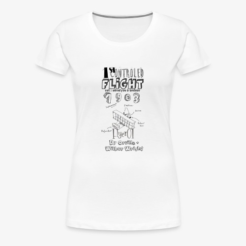 1stcontroled flight - T-shirt Premium Femme