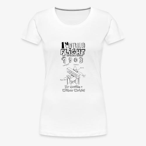 1stcontroled flight - T-shirt Premium Femme