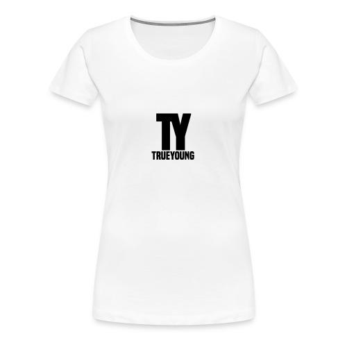 True Young Hoodie Grey   Unisex - Vrouwen Premium T-shirt