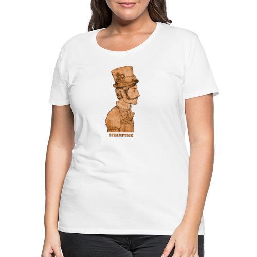 Steampunk Mann Zylinder - Frauen Premium T-Shirt