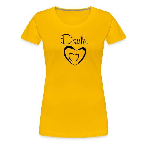 doula sydämet isolla - Naisten premium t-paita