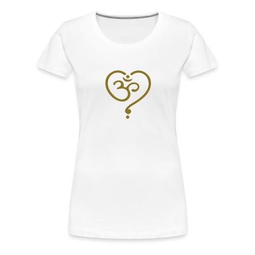 OM Symbol Herz Yoga Liebe Spiritualität Meditation - Frauen Premium T-Shirt
