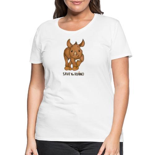 Save the Rhino - Women's Premium T-Shirt