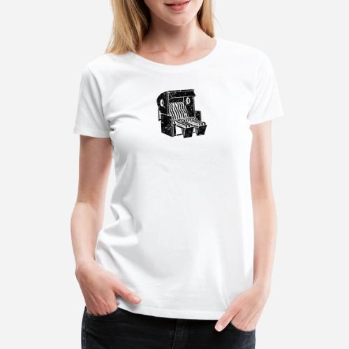 Strandkorb Illustration von Clarissa Schwarz - Frauen Premium T-Shirt