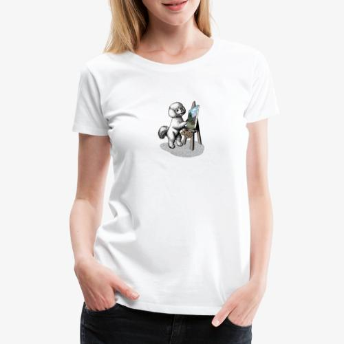 Bichon Frise Painter - Women's Premium T-Shirt