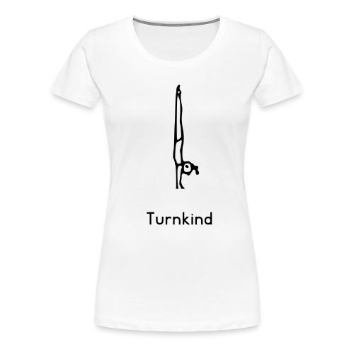 turnkind handstand girl - Frauen Premium T-Shirt