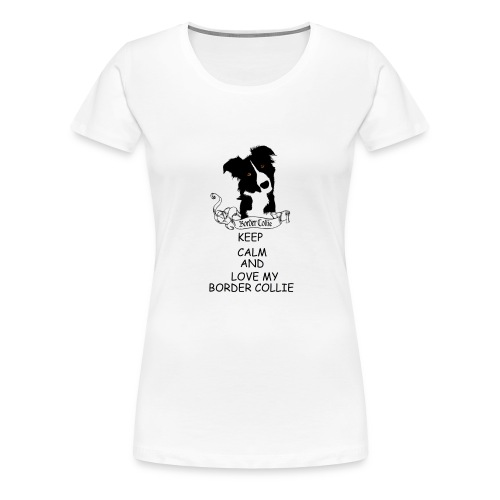 border_collie - Premium-T-shirt dam