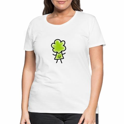 Brocoli Sketch - Women's Premium T-Shirt