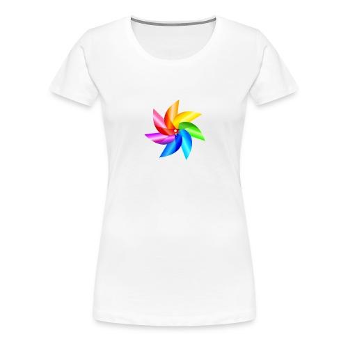bunte Windmühle Kinderspielzeug Regenbogen Sommer - Women's Premium T-Shirt
