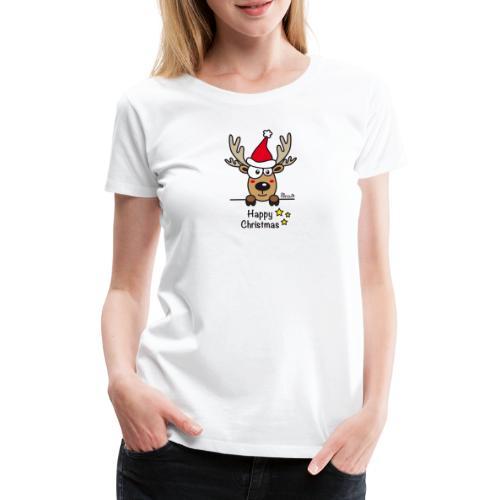 Renne Joyeux Noël - Happy Christmas, Humour, Drôle - T-shirt Premium Femme