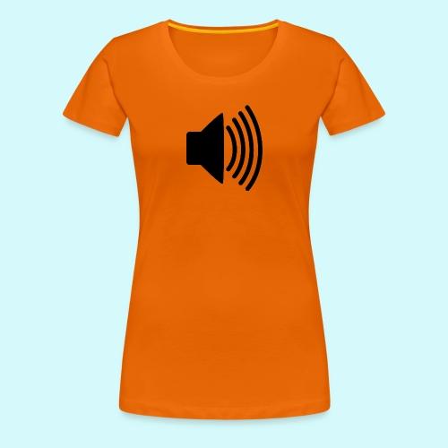 lautsprecher schwarz - Frauen Premium T-Shirt