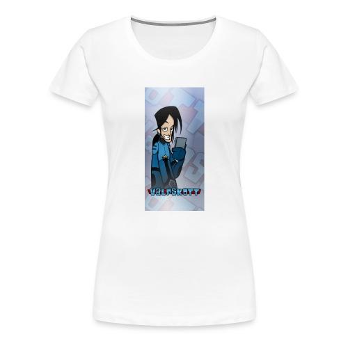 Valp Mobilskal png - Premium-T-shirt dam