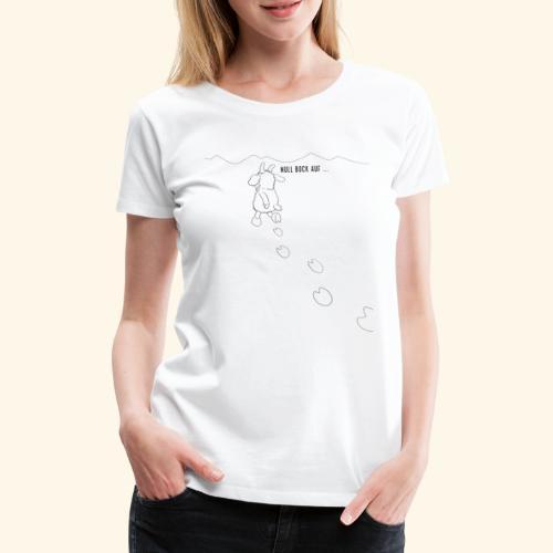 Schafbock: Null Bock auf - schwarz - Frauen Premium T-Shirt