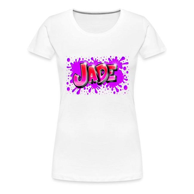 JADE Graffiti Name with splash of color
