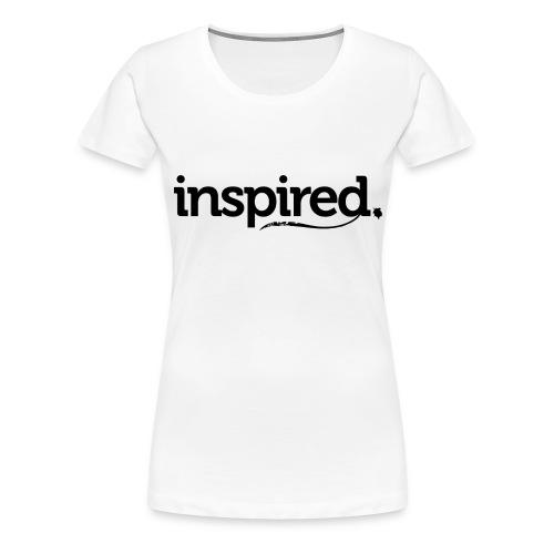 inspired. schwarz - Frauen Premium T-Shirt
