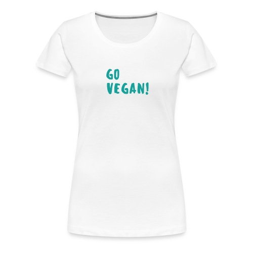 Go Vegan! - Vrouwen Premium T-shirt