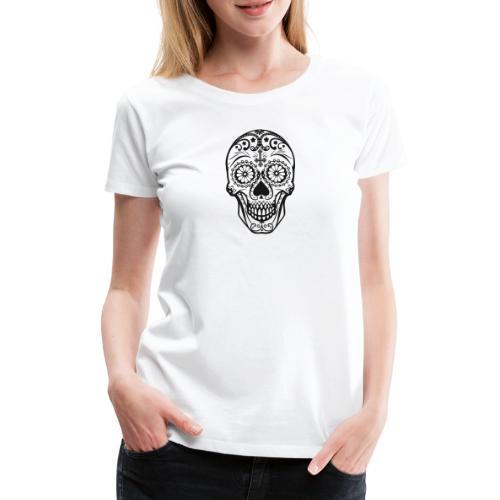 Skull black - Frauen Premium T-Shirt