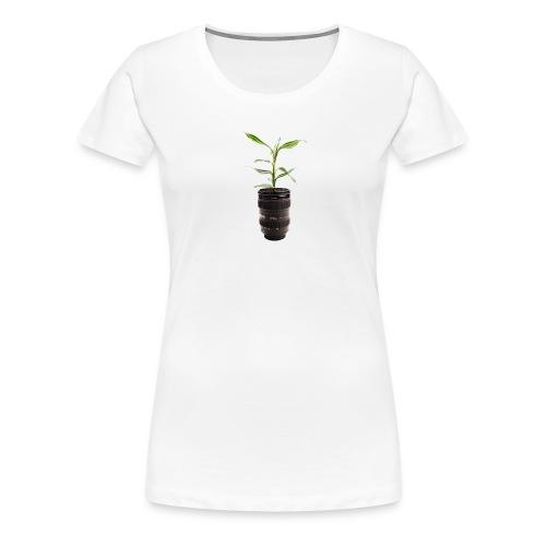 Pflanze im Objektiv - Frauen Premium T-Shirt