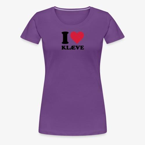 i love kleive - Premium T-skjorte for kvinner