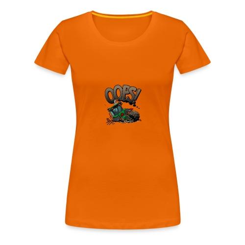 0921 JD stuck oops - Vrouwen Premium T-shirt