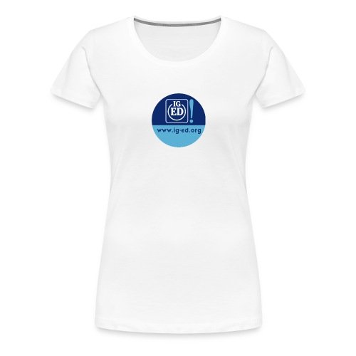 iged rz button 32mm - Frauen Premium T-Shirt