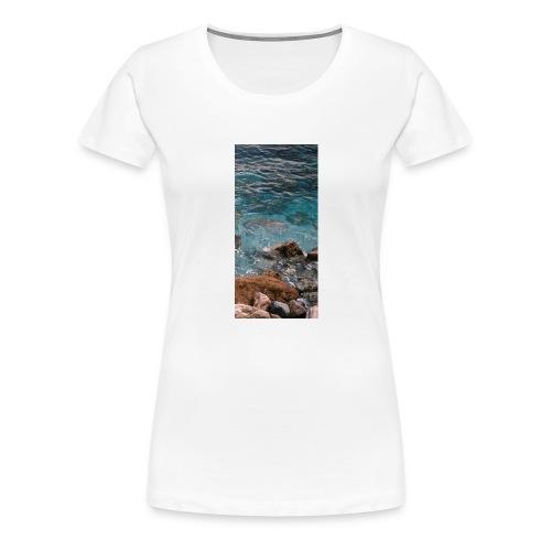 iPhone 4/4s Hard Case mit Wellenmotiv - Frauen Premium T-Shirt
