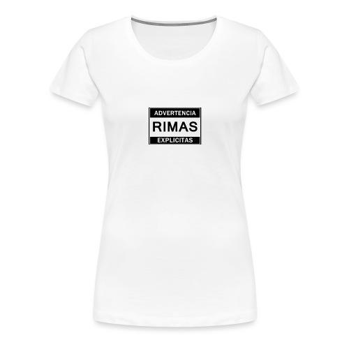 advertencia Rimas Explicitas - Camiseta premium mujer