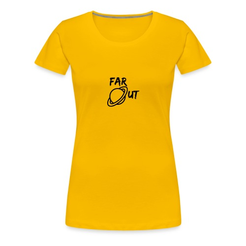 Far_Out_black - Camiseta premium mujer