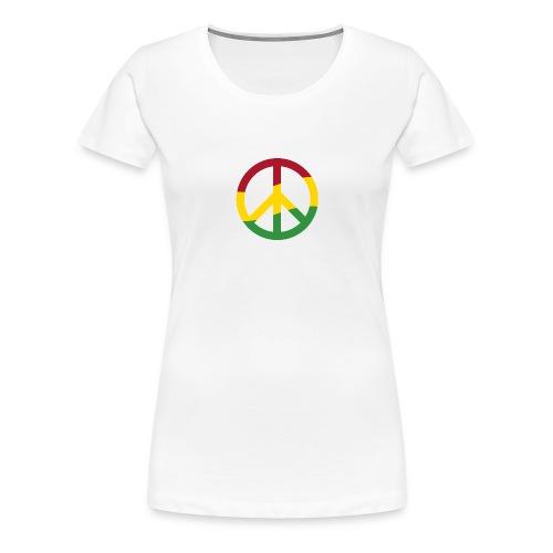 Peacezeichen Rastafari Reggae Musik Frieden Pace - Women's Premium T-Shirt