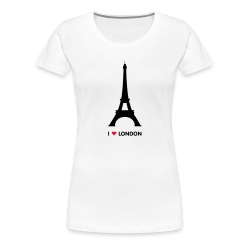 I love London - Vrouwen Premium T-shirt