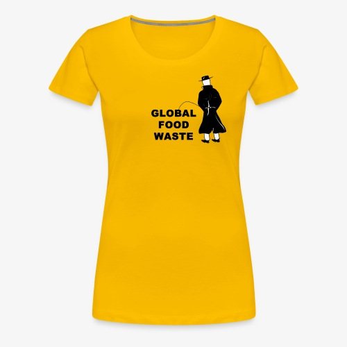 Pissing Man against Global Food Waste - Frauen Premium T-Shirt