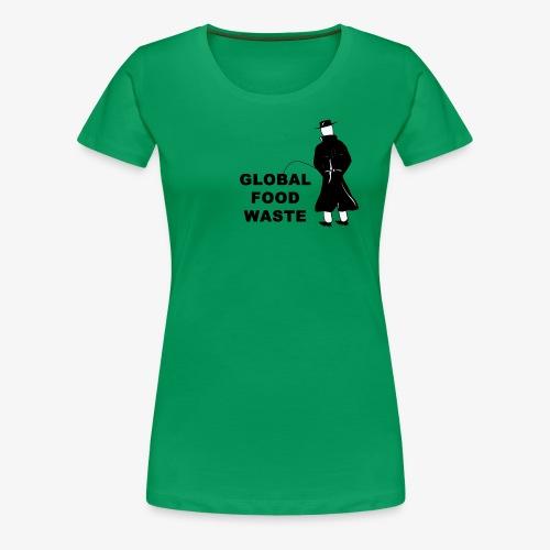 Pissing Man against Global Food Waste - Frauen Premium T-Shirt