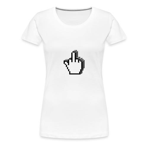 vurtual Middle Finger - T-shirt Premium Femme