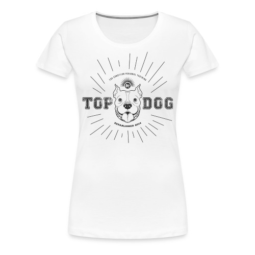 Top Dog (Black) - Women's Premium T-Shirt