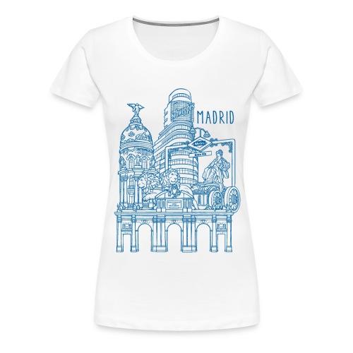 MADRID COLLAGE AZUL - Camiseta premium mujer