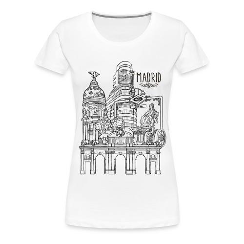 MADRID COLLAGE NEGRO - Camiseta premium mujer